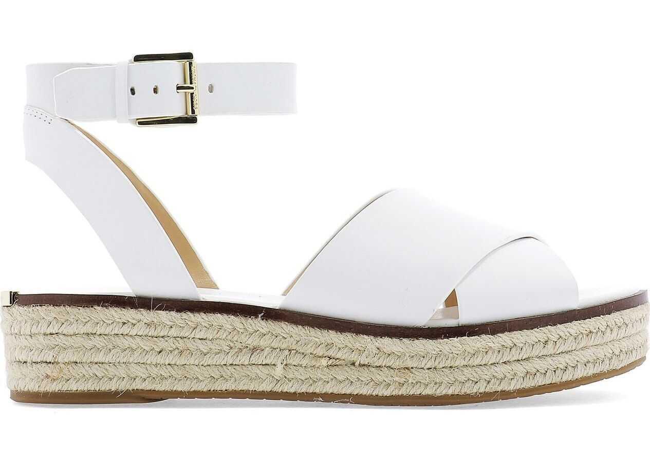 Michael Kors Leather Sandals WHITE