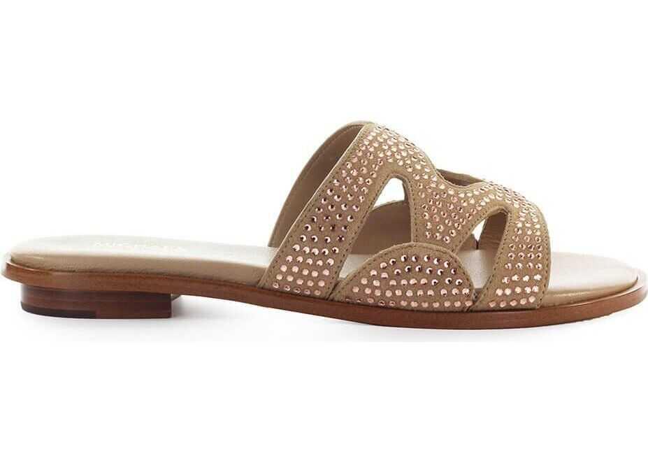Michael Kors Leather Sandals BEIGE