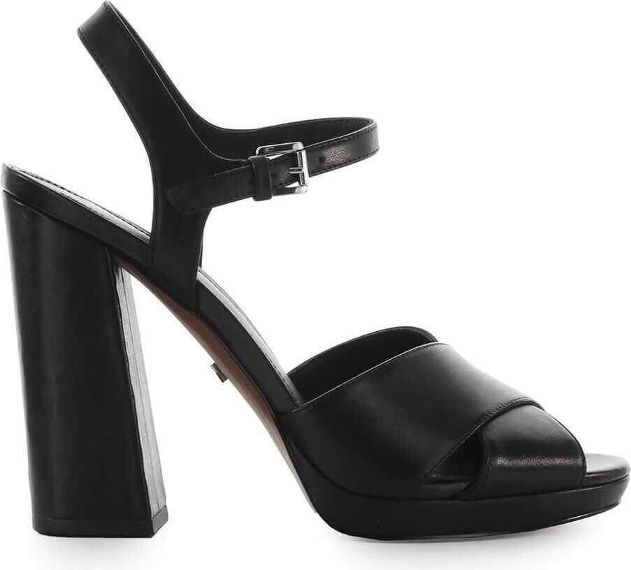 Michael Kors Leather Sandals BLACK