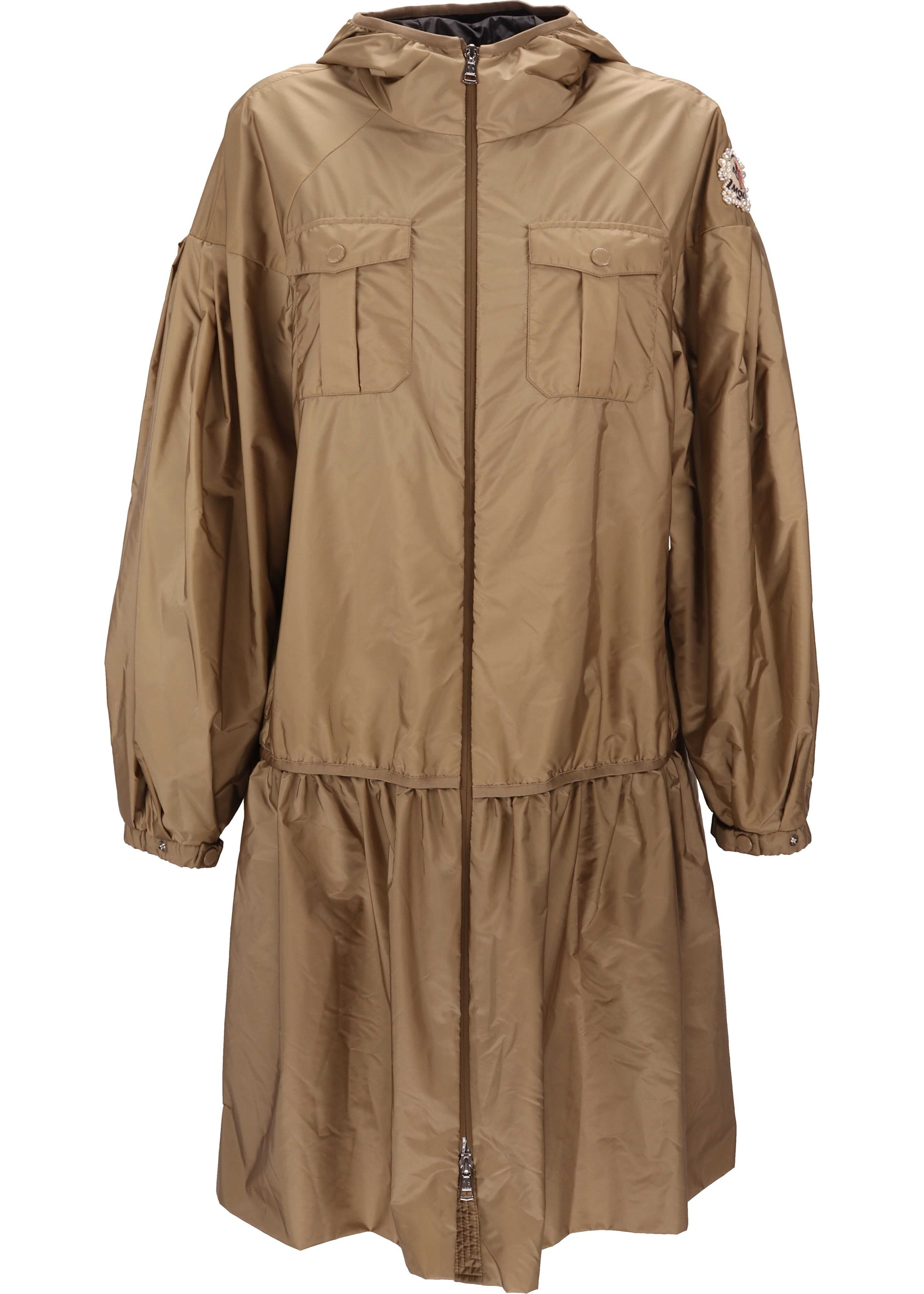 Moncler Polyester Outerwear Jacket BEIGE