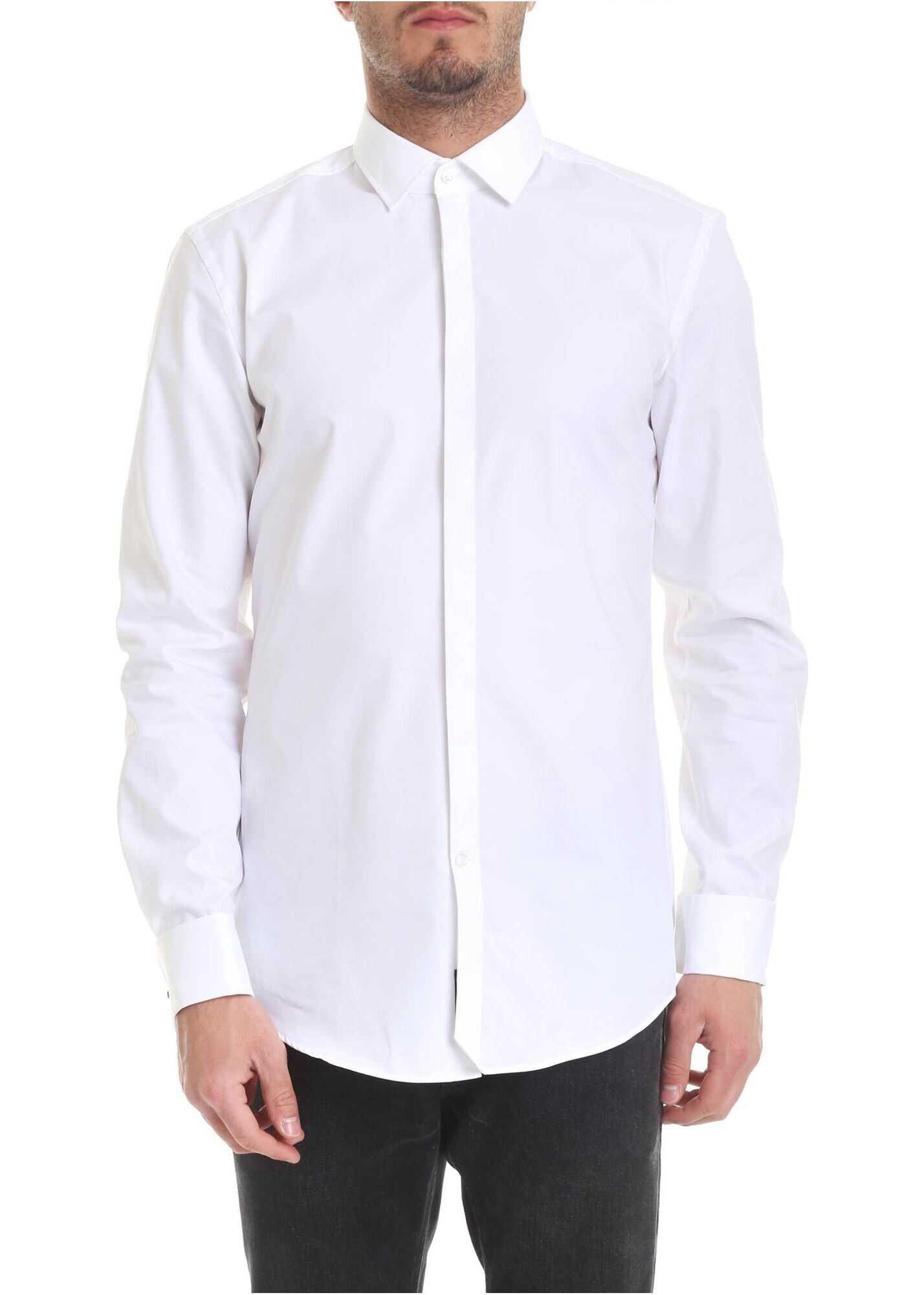 BOSS Hugo Boss Cotton Shirt WHITE