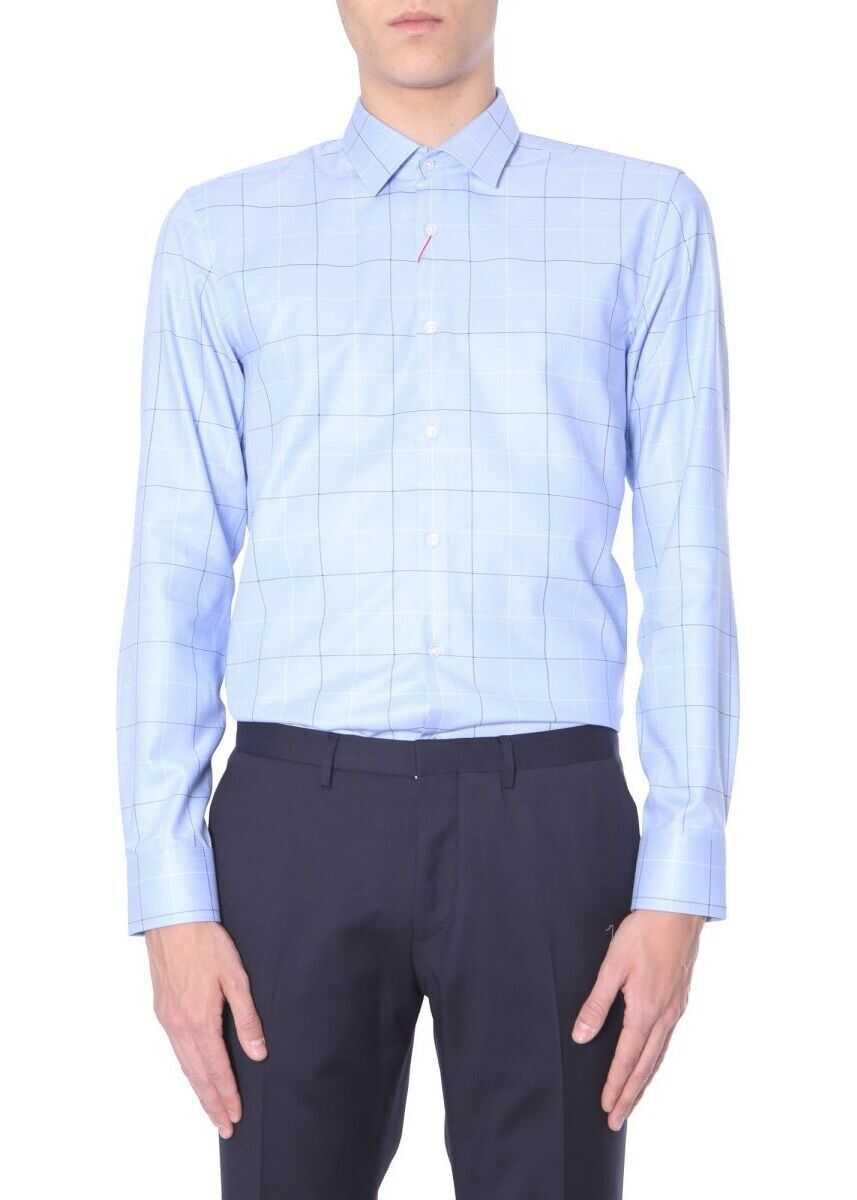 BOSS Hugo Boss Cotton Shirt LIGHT BLUE
