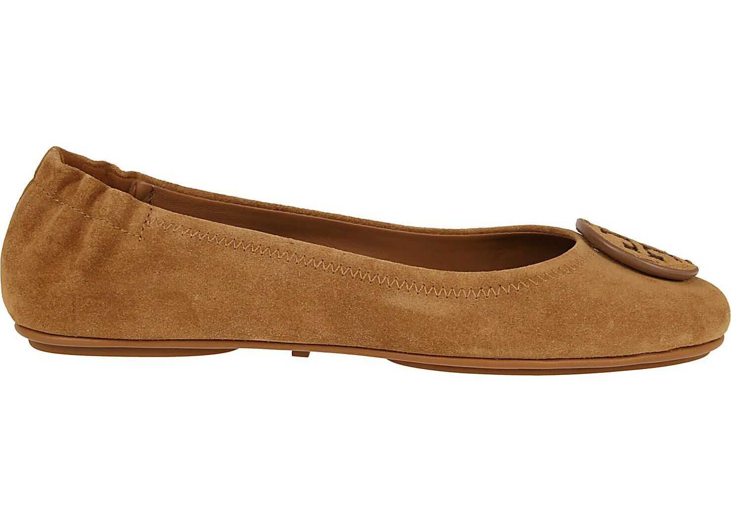 Tory Burch Suede Flats BROWN