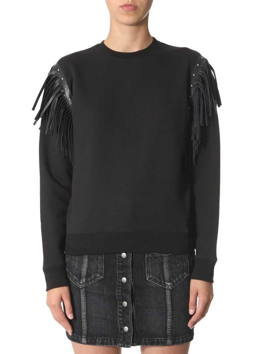 Saint Laurent Cotton Sweatshirt BLACK