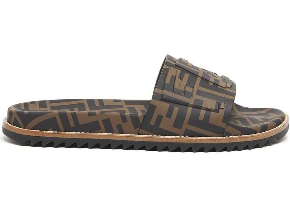 Fendi Polyester Sandals BROWN
