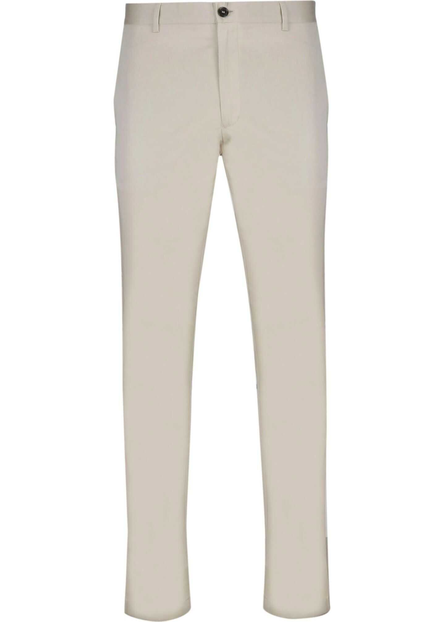 Burberry Cotton Pants WHITE