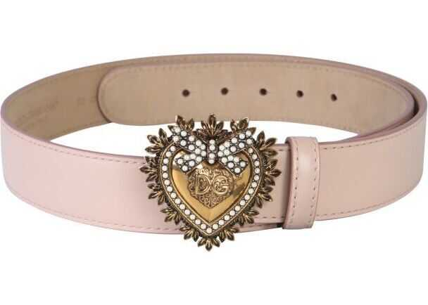 Dolce & Gabbana Leather Belt PINK