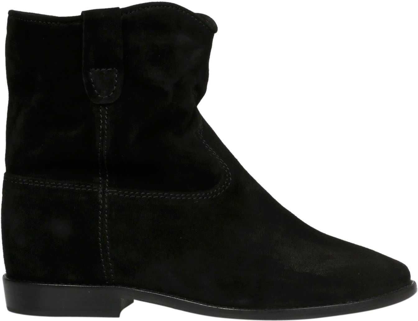 Isabel Marant Suede Ankle Boots BLACK