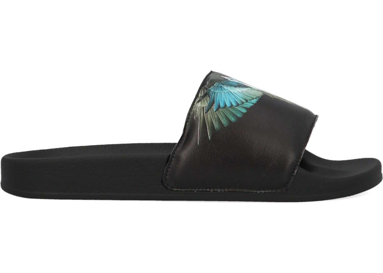 Marcelo Burlon Pvc Sandals BLACK