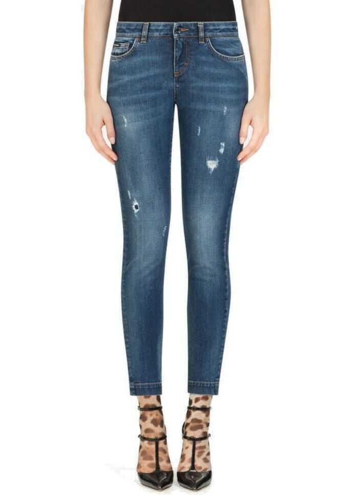 Dolce & Gabbana Cotton Jeans BLUE