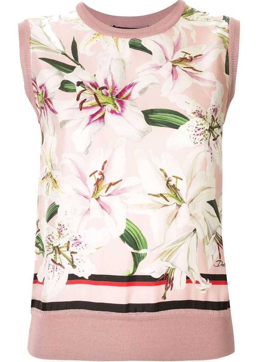 Dolce & Gabbana Silk Vest PINK