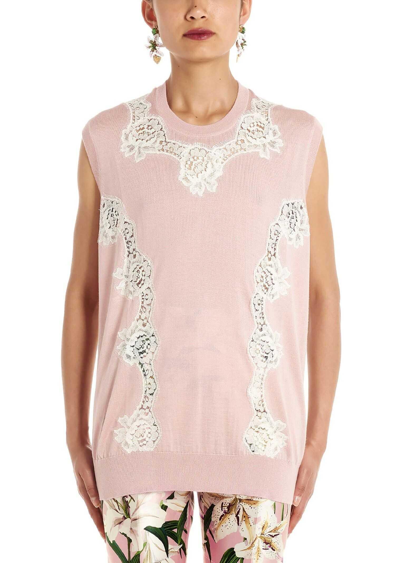Dolce & Gabbana Wool Vest PINK