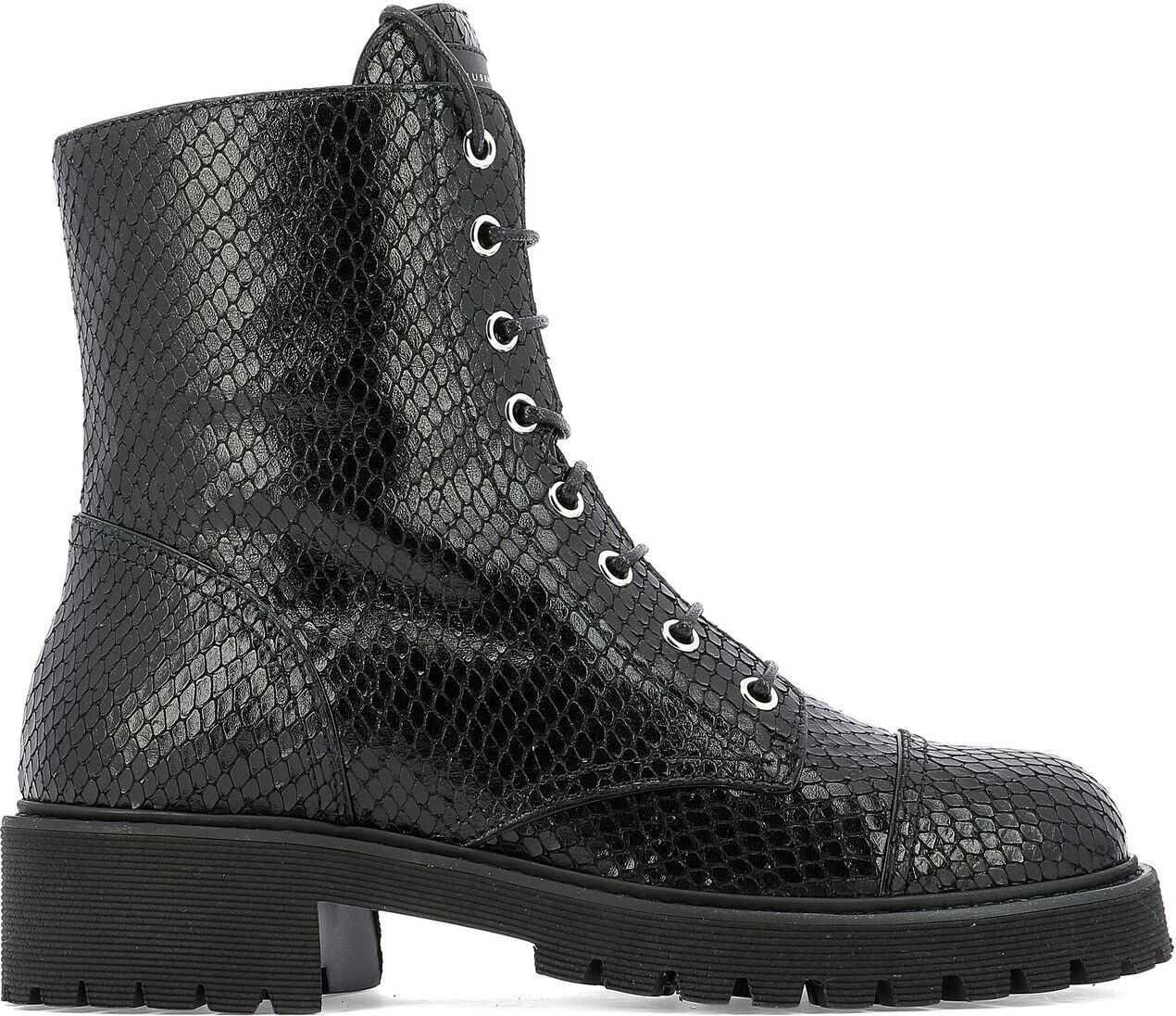 Giuseppe Zanotti Leather Ankle Boots BLACK