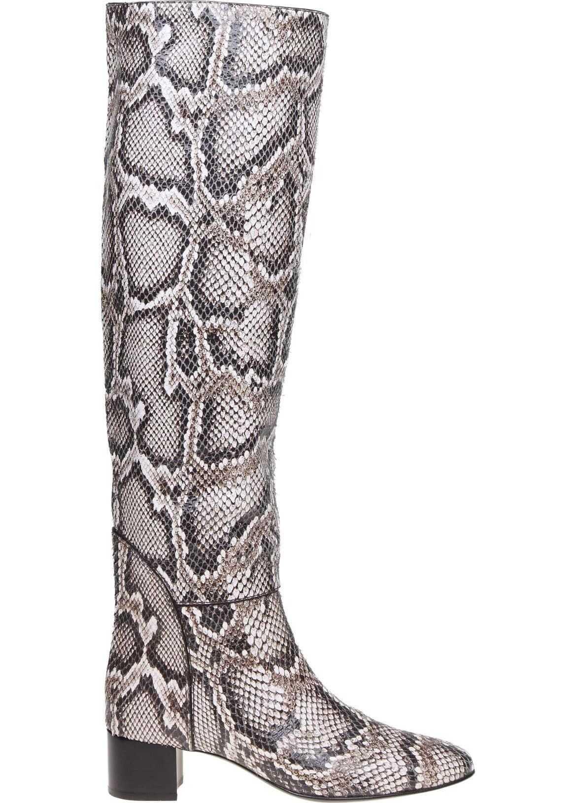Giuseppe Zanotti Leather Boots GREY