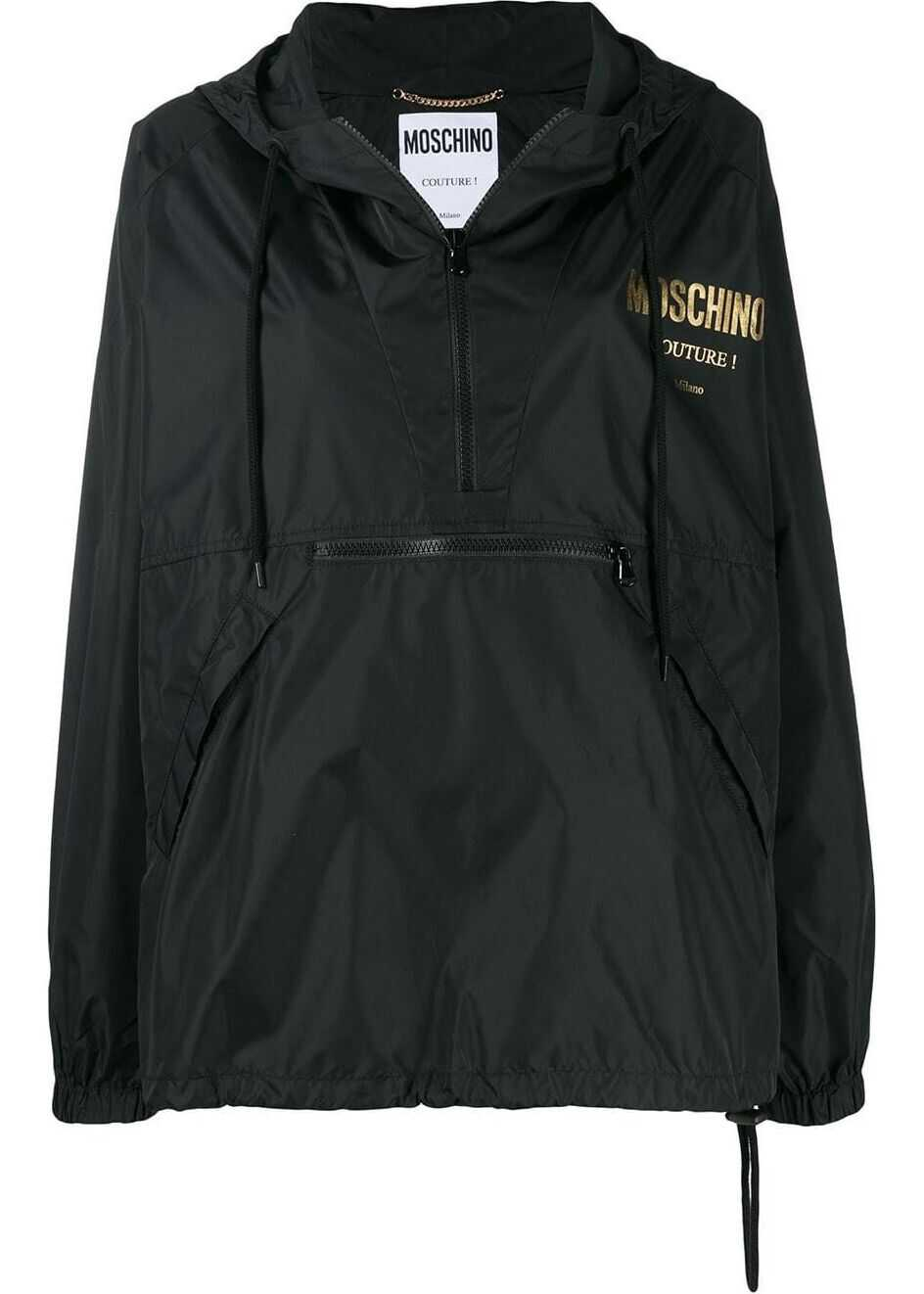 Moschino Polyamide Outerwear Jacket BLACK