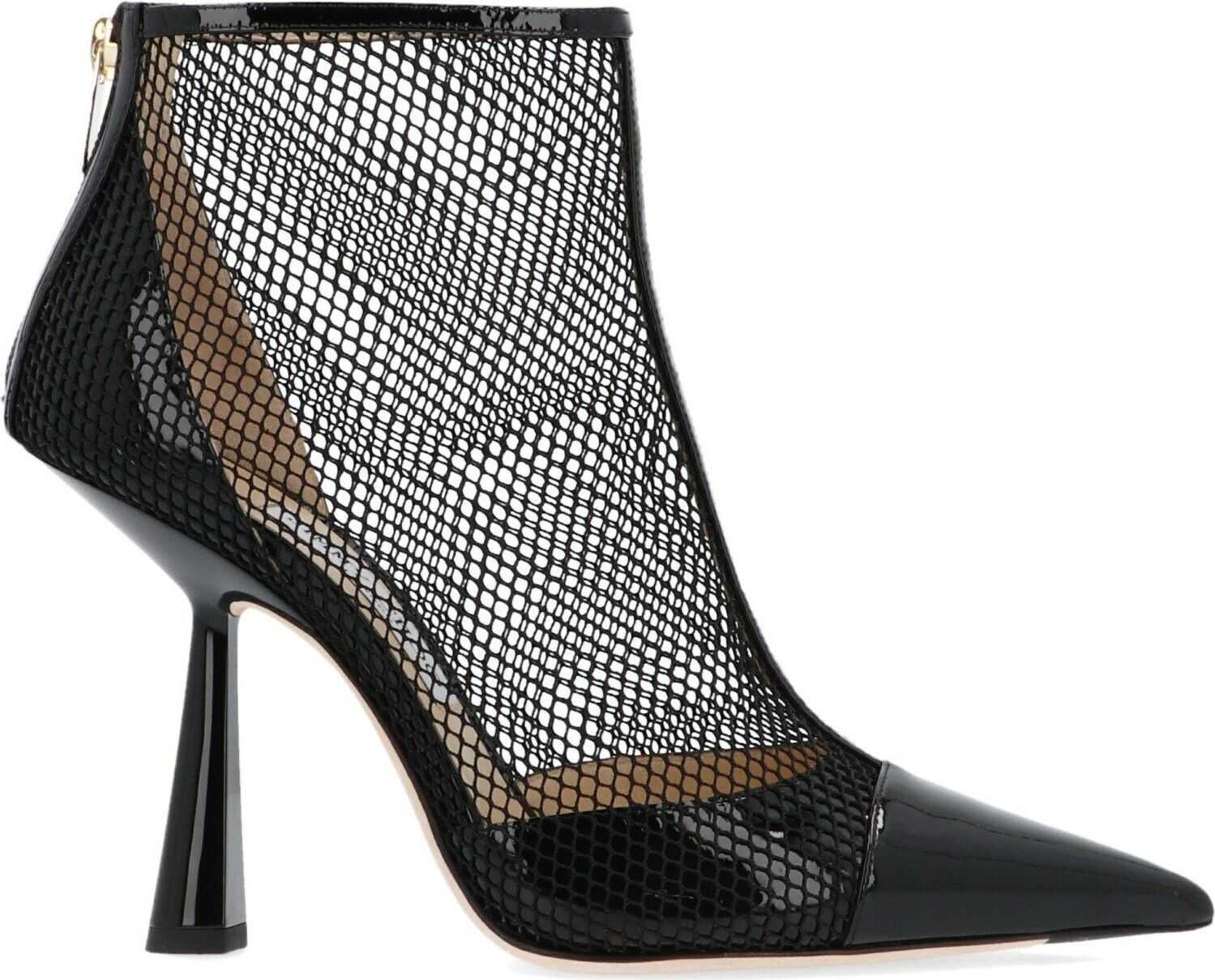 Jimmy Choo Leather Ankle Boots BLACK