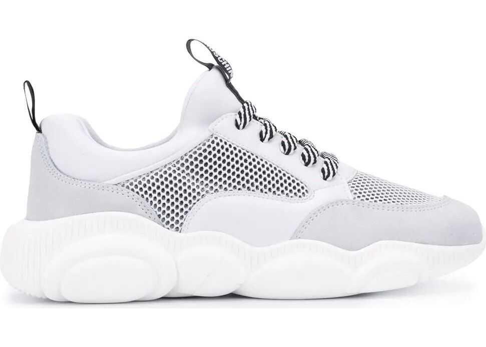 Moschino Fabric Sneakers WHITE