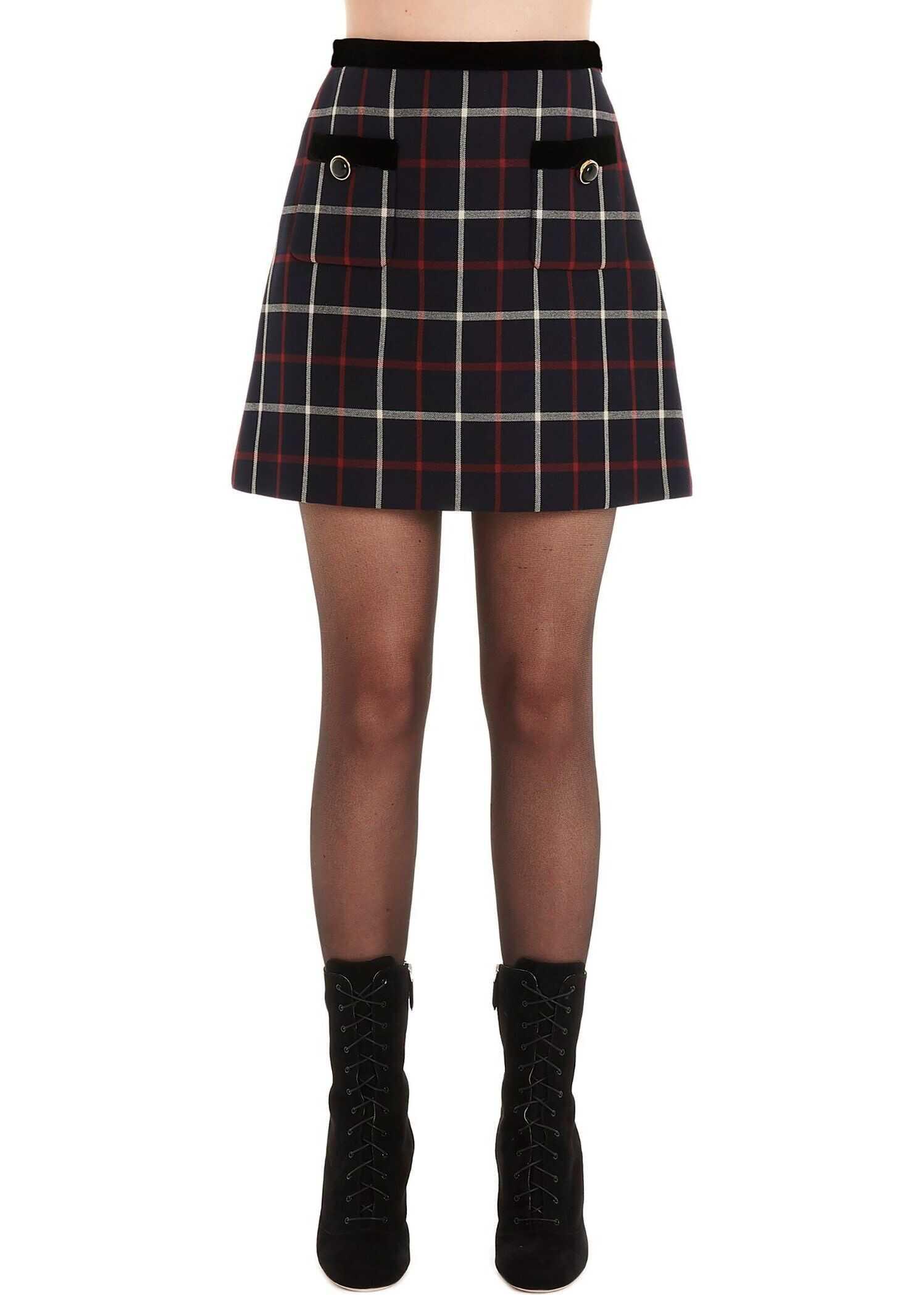 Miu Miu Polyester Skirt BLUE