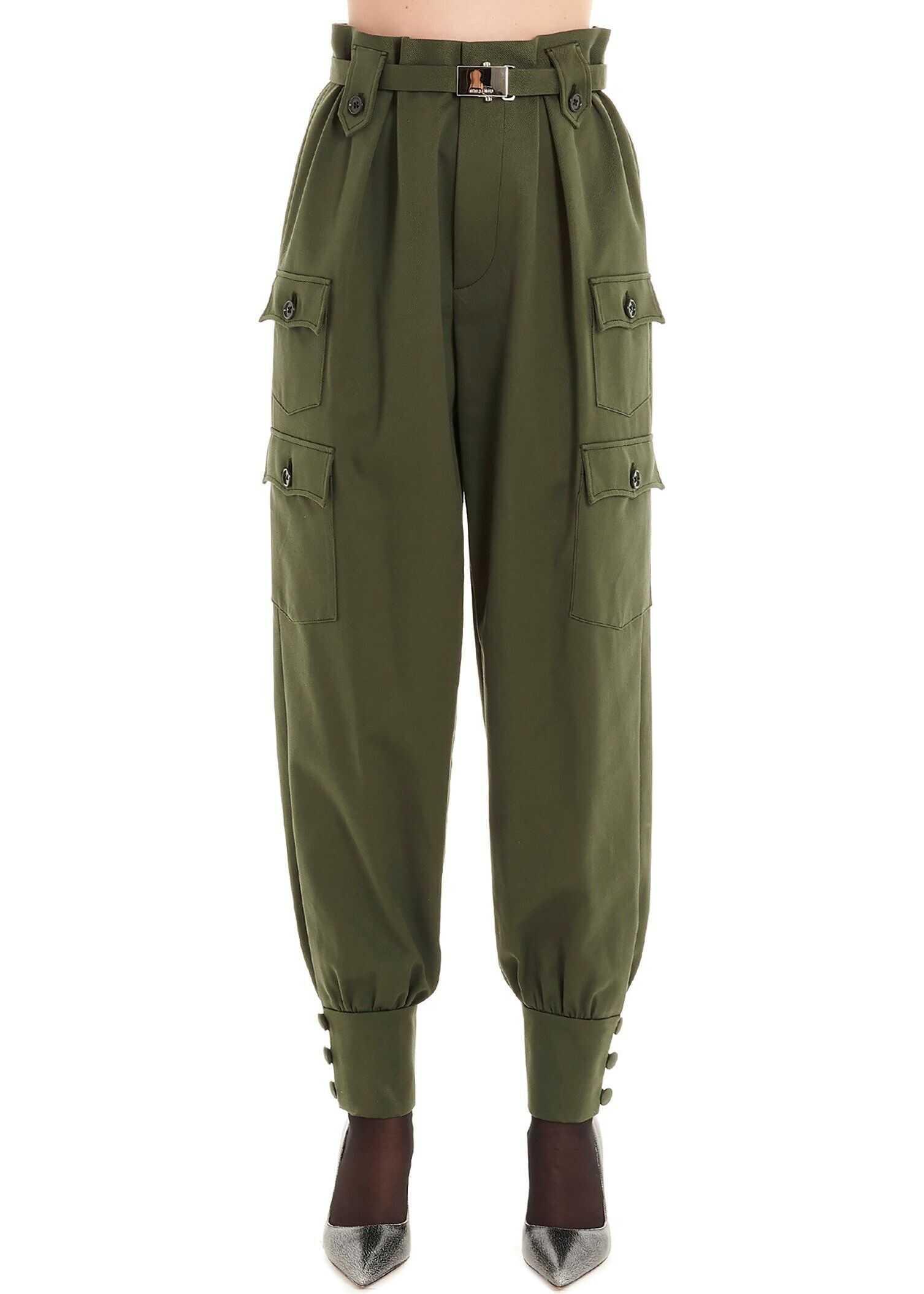 Miu Miu Cotton Pants GREEN