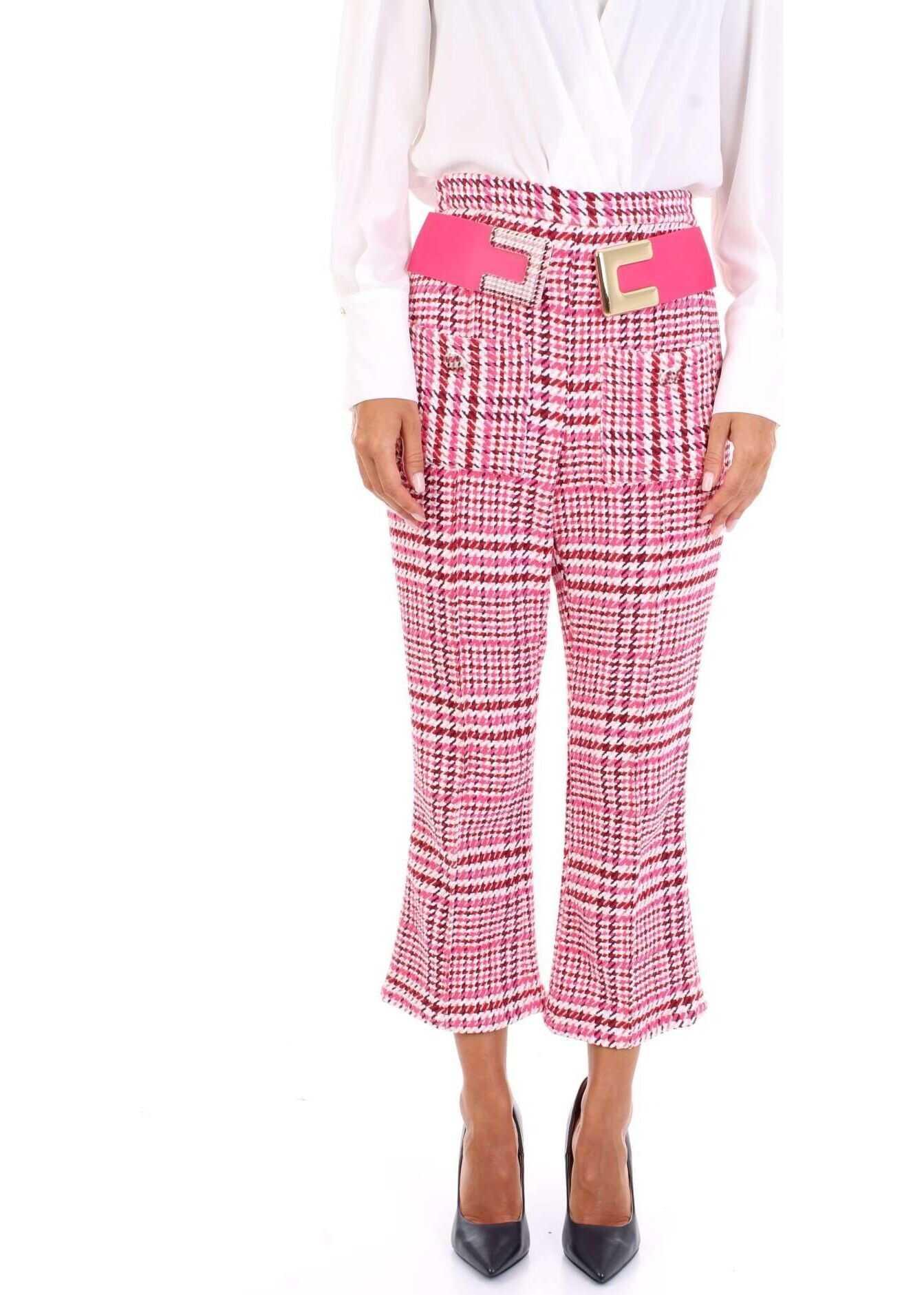 Elisabetta Franchi Cotton Pants PINK