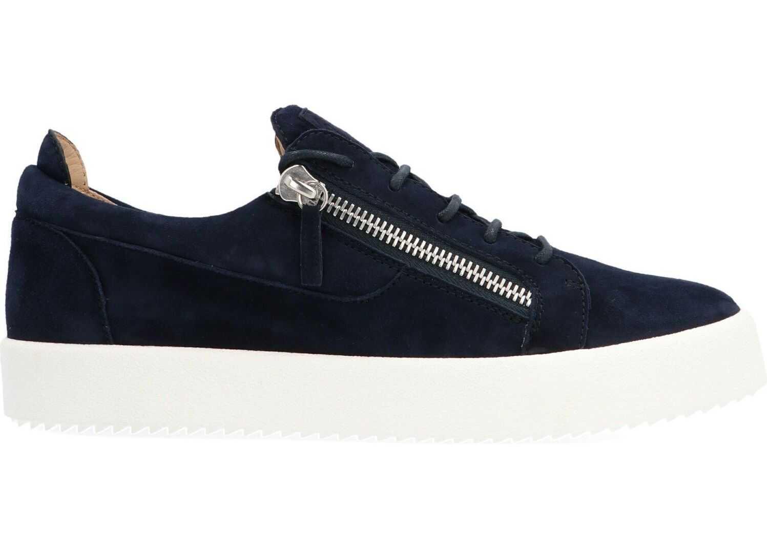 Giuseppe Zanotti Leather Sneakers BLUE
