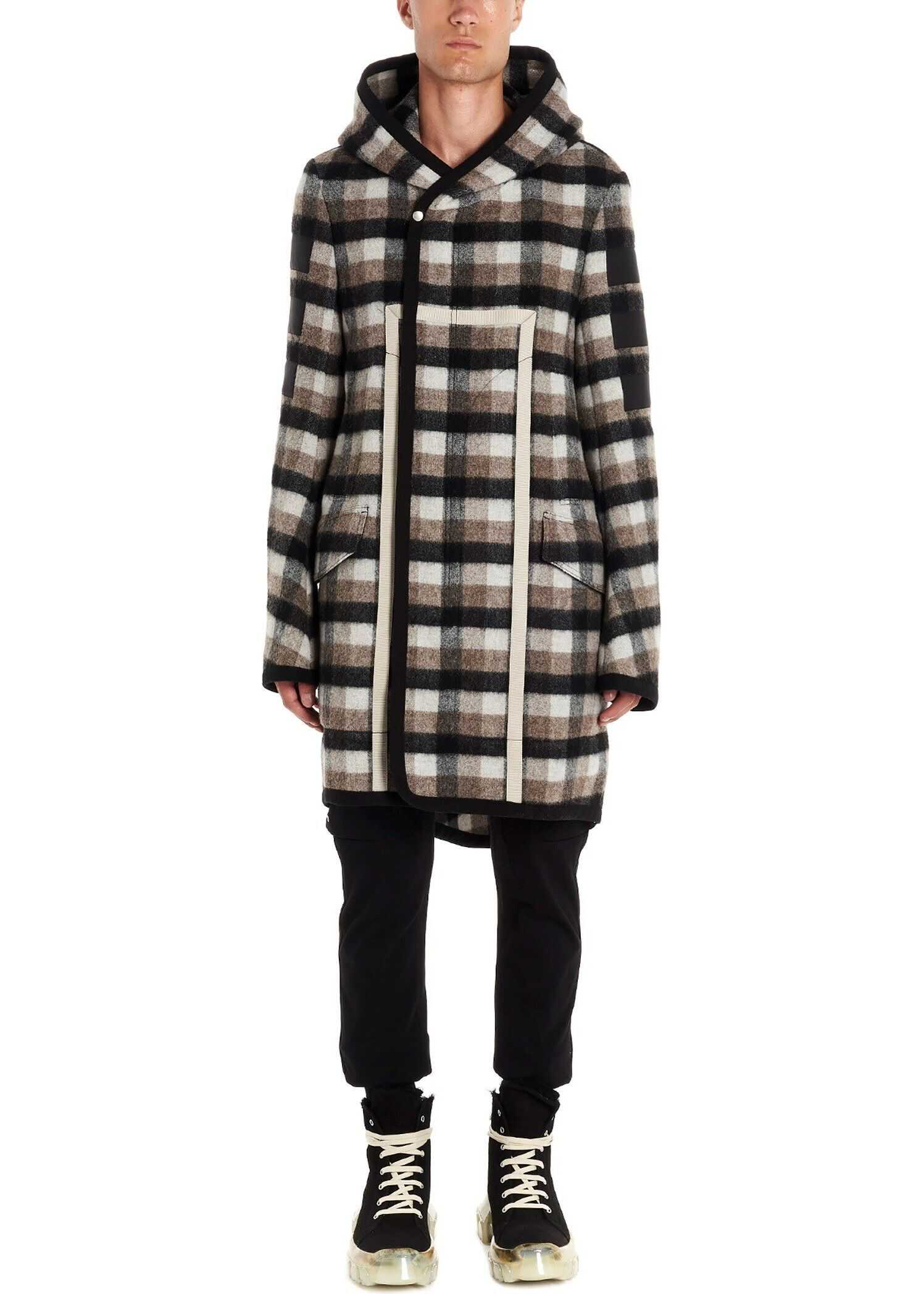 Rick Owens Wool Coat MULTICOLOR