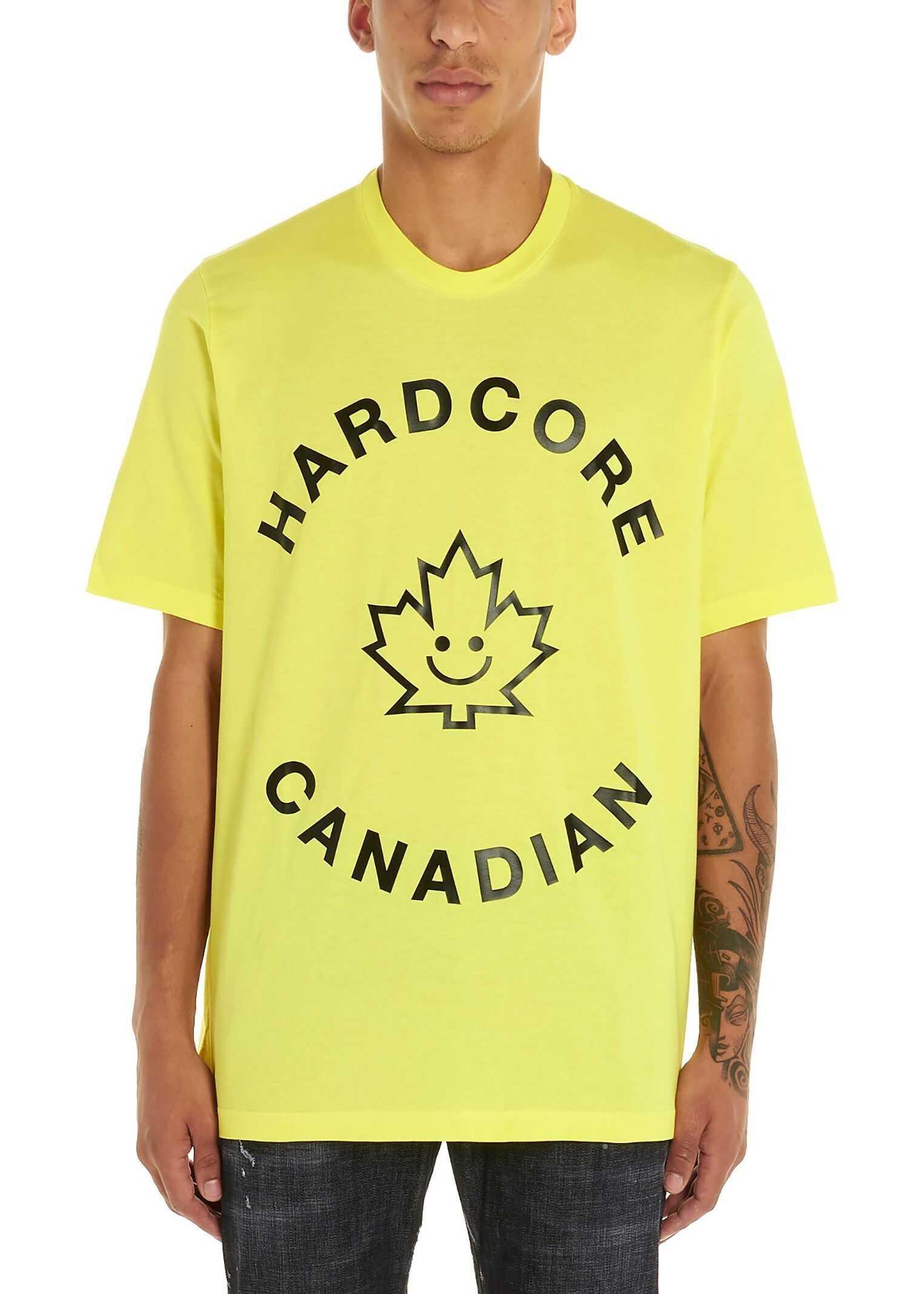 DSQUARED2 Cotton T-Shirt YELLOW