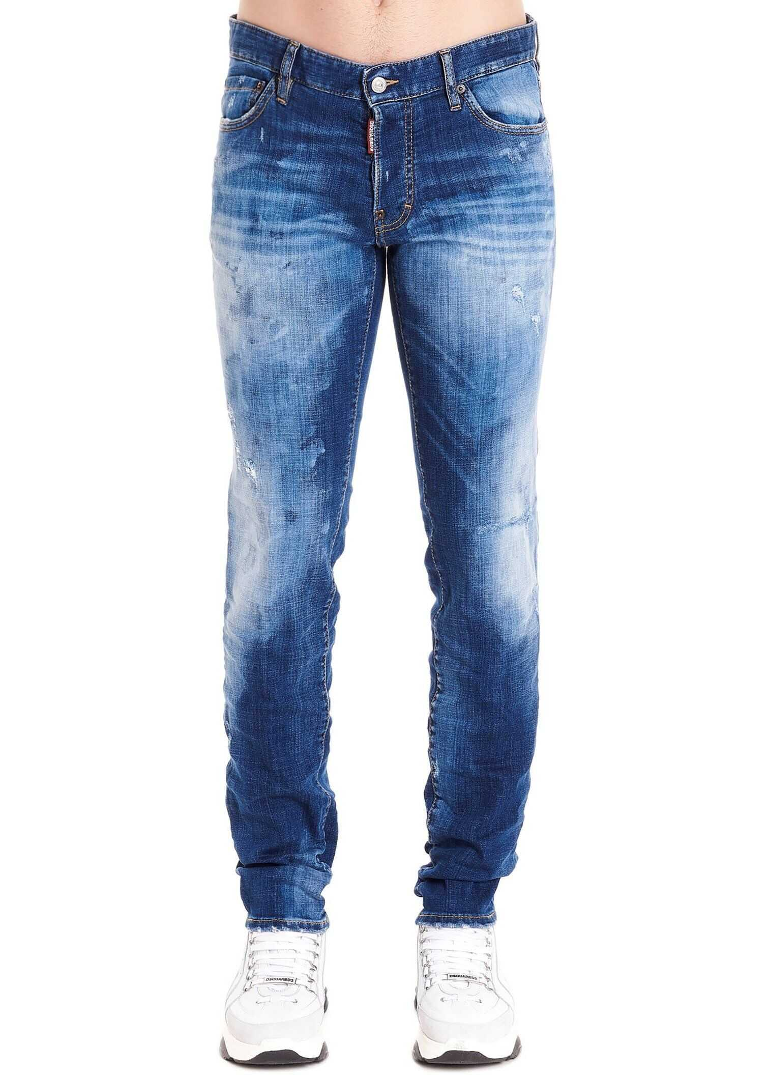 DSQUARED2 Cotton Jeans BLUE