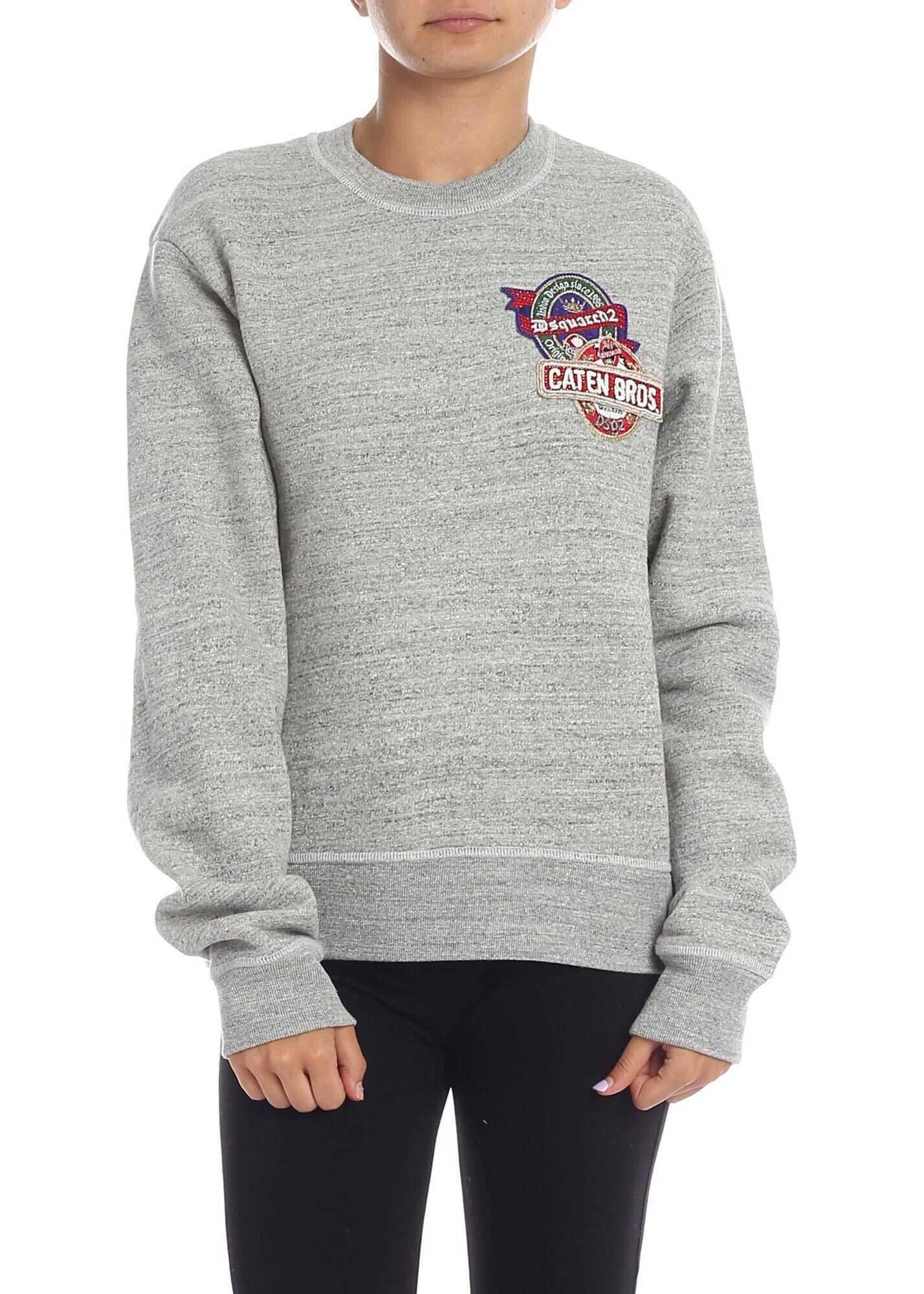 DSQUARED2 Cotton Sweatshirt GREY