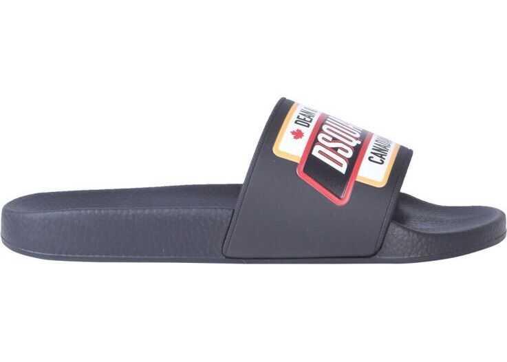 DSQUARED2 Rubber Sandals BLACK