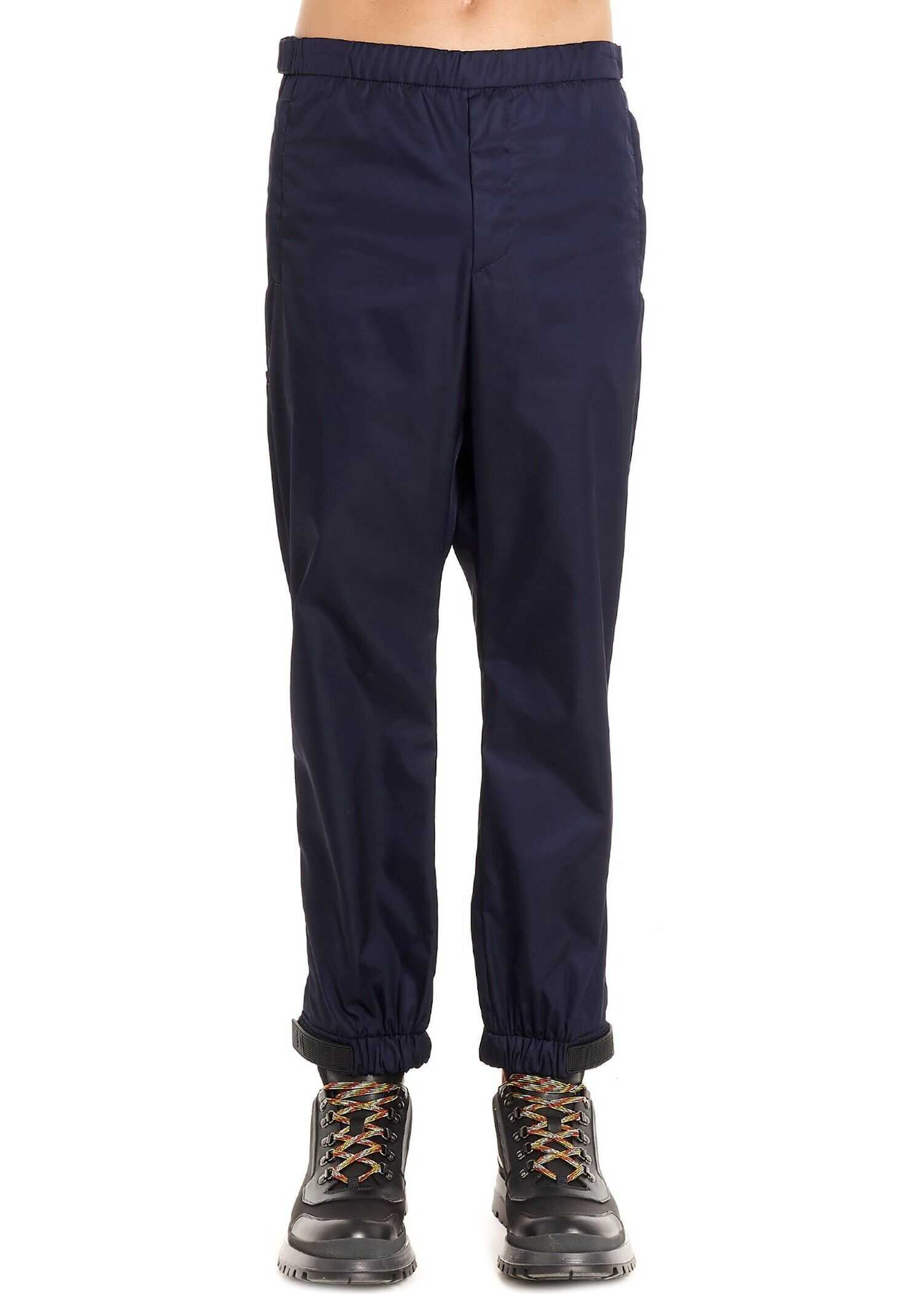 Prada Polyester Pants BLUE