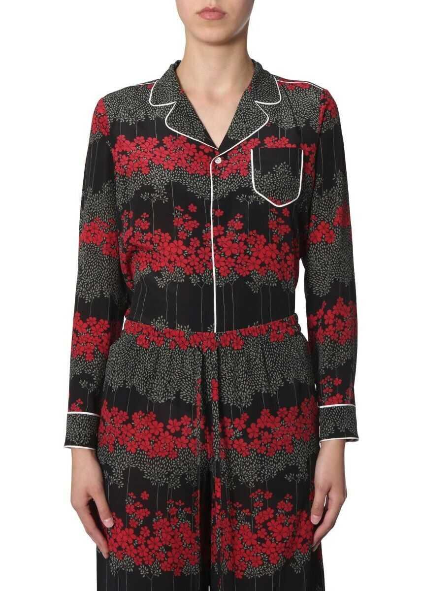 RED VALENTINO Silk Shirt BLACK