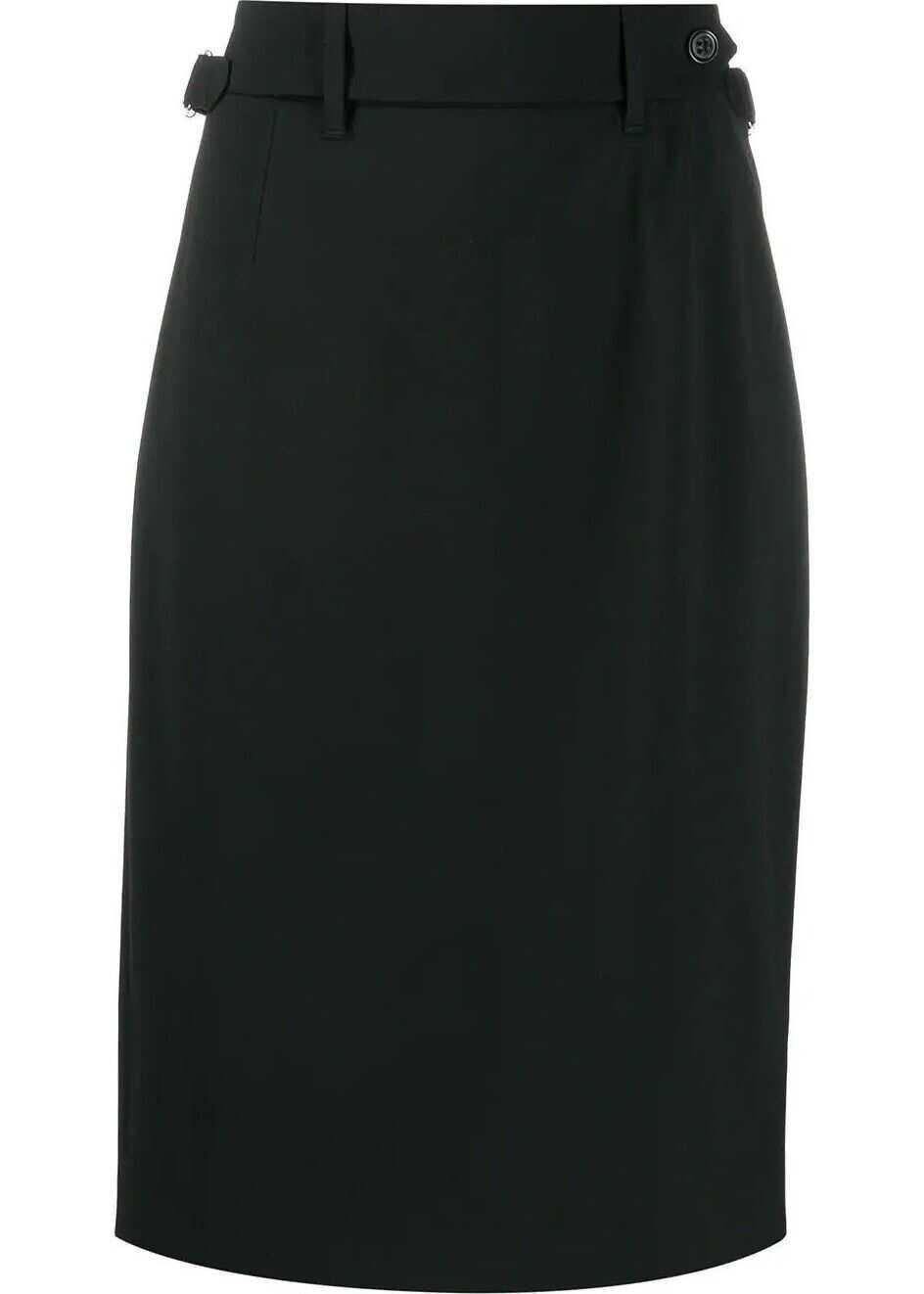 RED VALENTINO Viscose Skirt BLACK