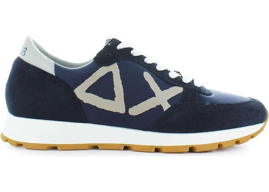 SUN 68 Suede Sneakers BLUE