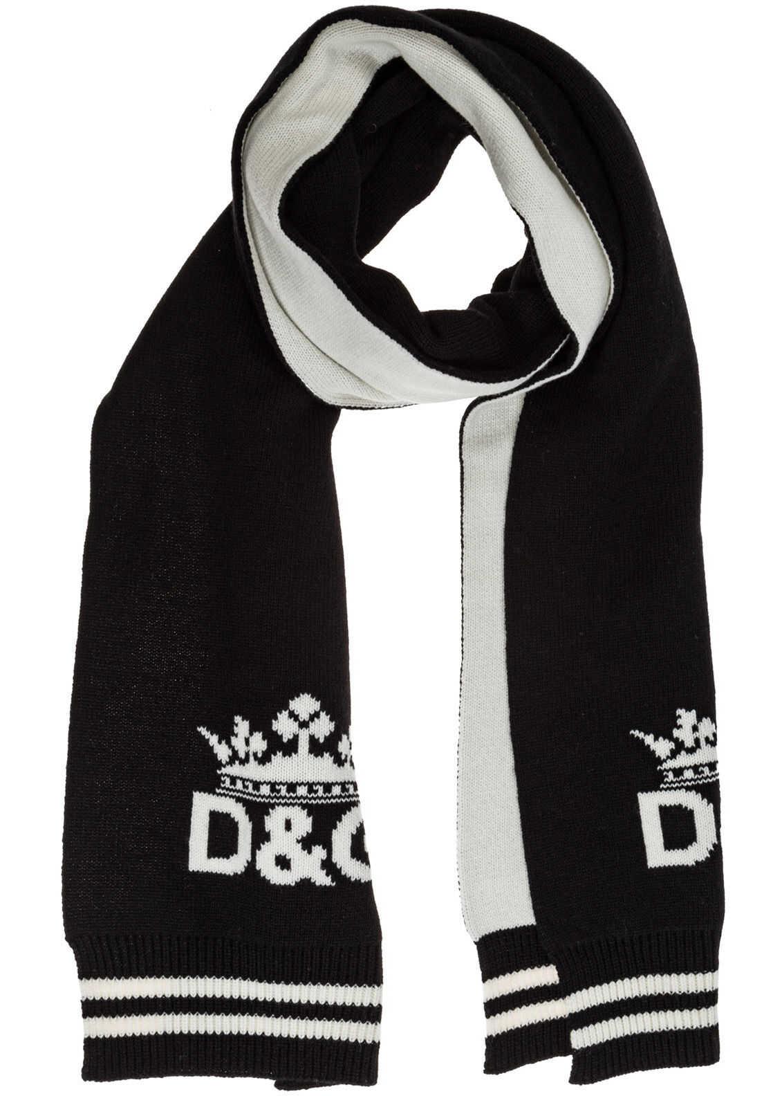 Dolce & Gabbana Cashmere Scarf Black