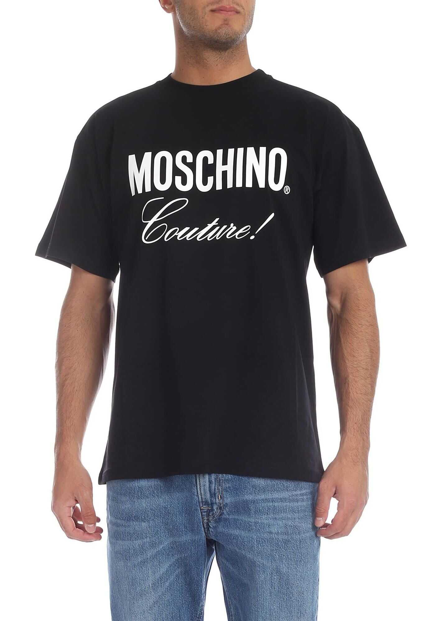 Moschino Moschino Couture T-Shirt In Black Black