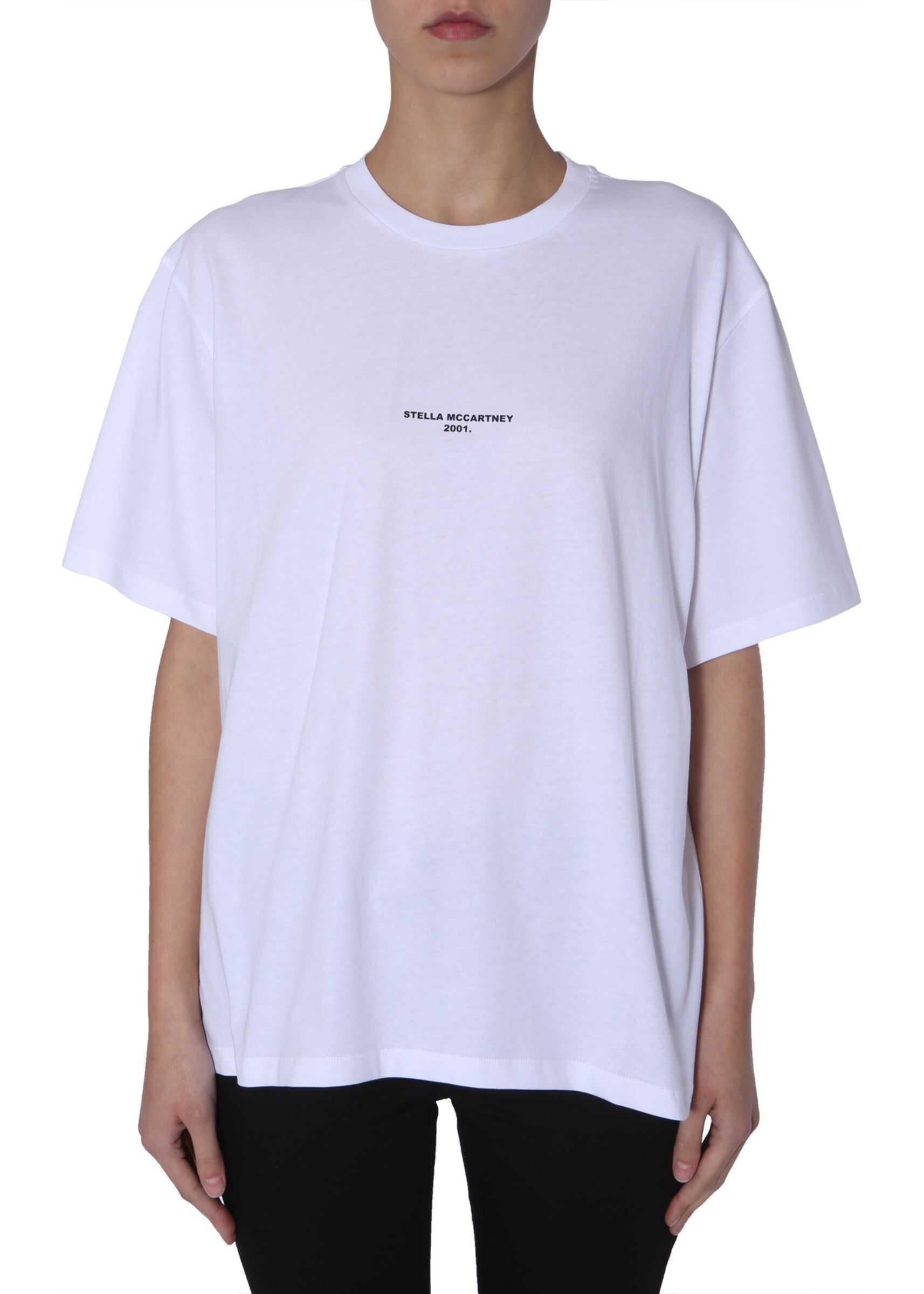 adidas by Stella McCartney Round Neck T-Shirt WHITE