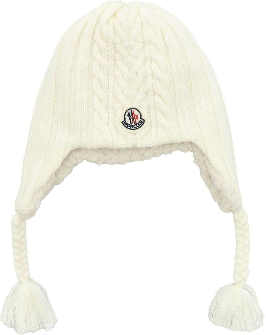 White Beanie With Logo Patch