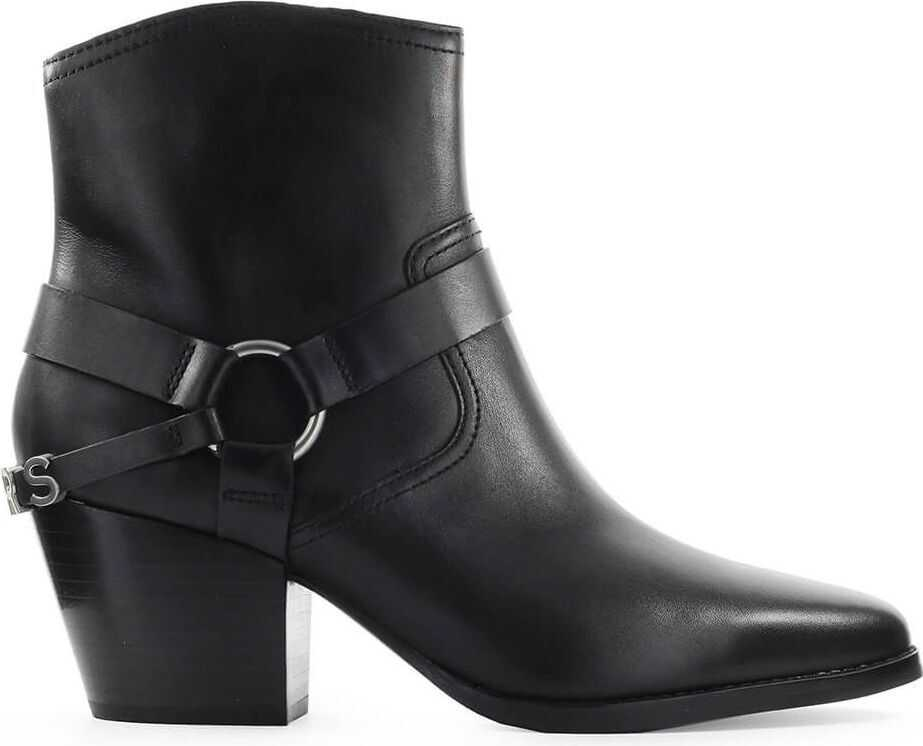 Michael Kors Leather Ankle Boots BLACK