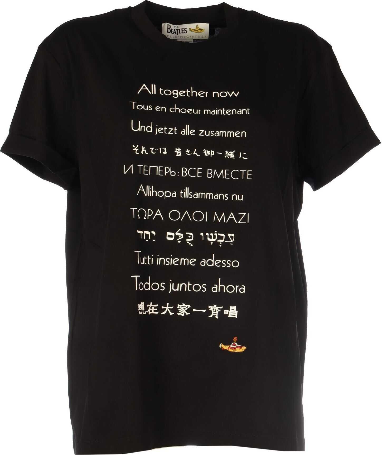 adidas by Stella McCartney Cotton T-Shirt BLACK