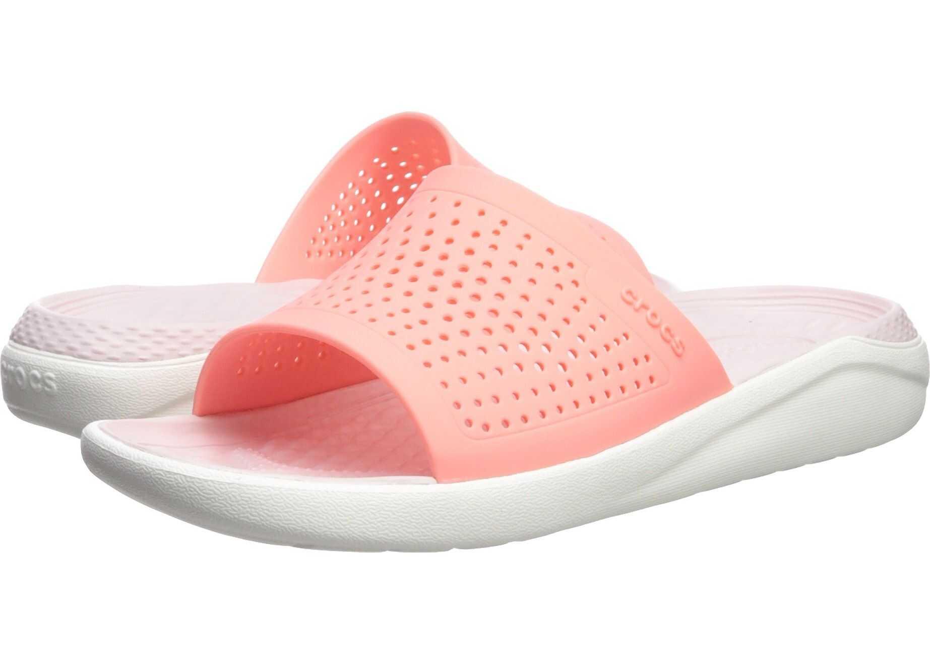 Crocs LiteRide Slide Melon/White 1