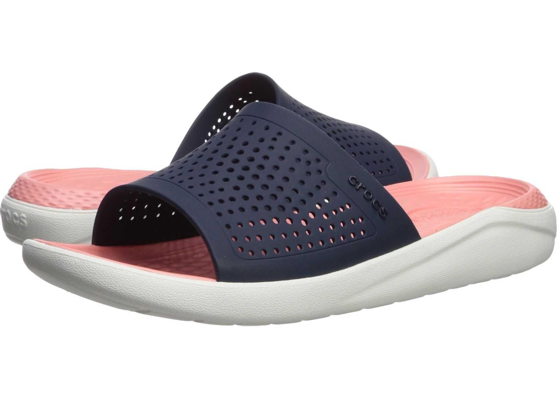 Crocs LiteRide Slide Navy/Melon 1