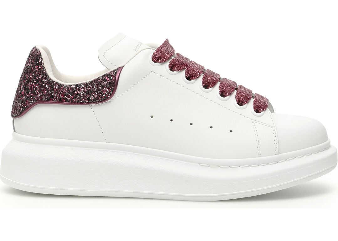 Alexander McQueen Glitter Oversize Sneakers WHI VEL ROSE VE RO