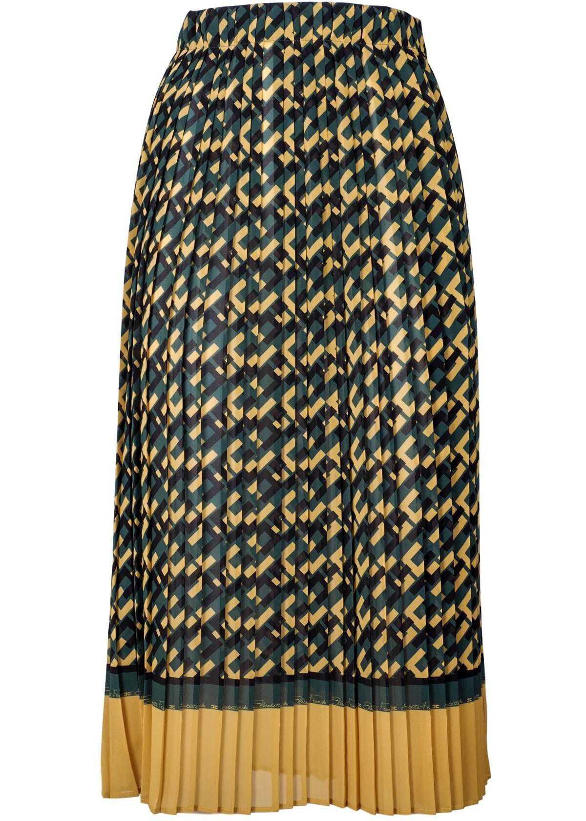 Elisabetta Franchi Polyester Skirt YELLOW