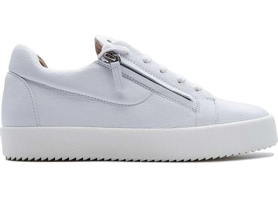 Giuseppe Zanotti Leather Sneakers WHITE