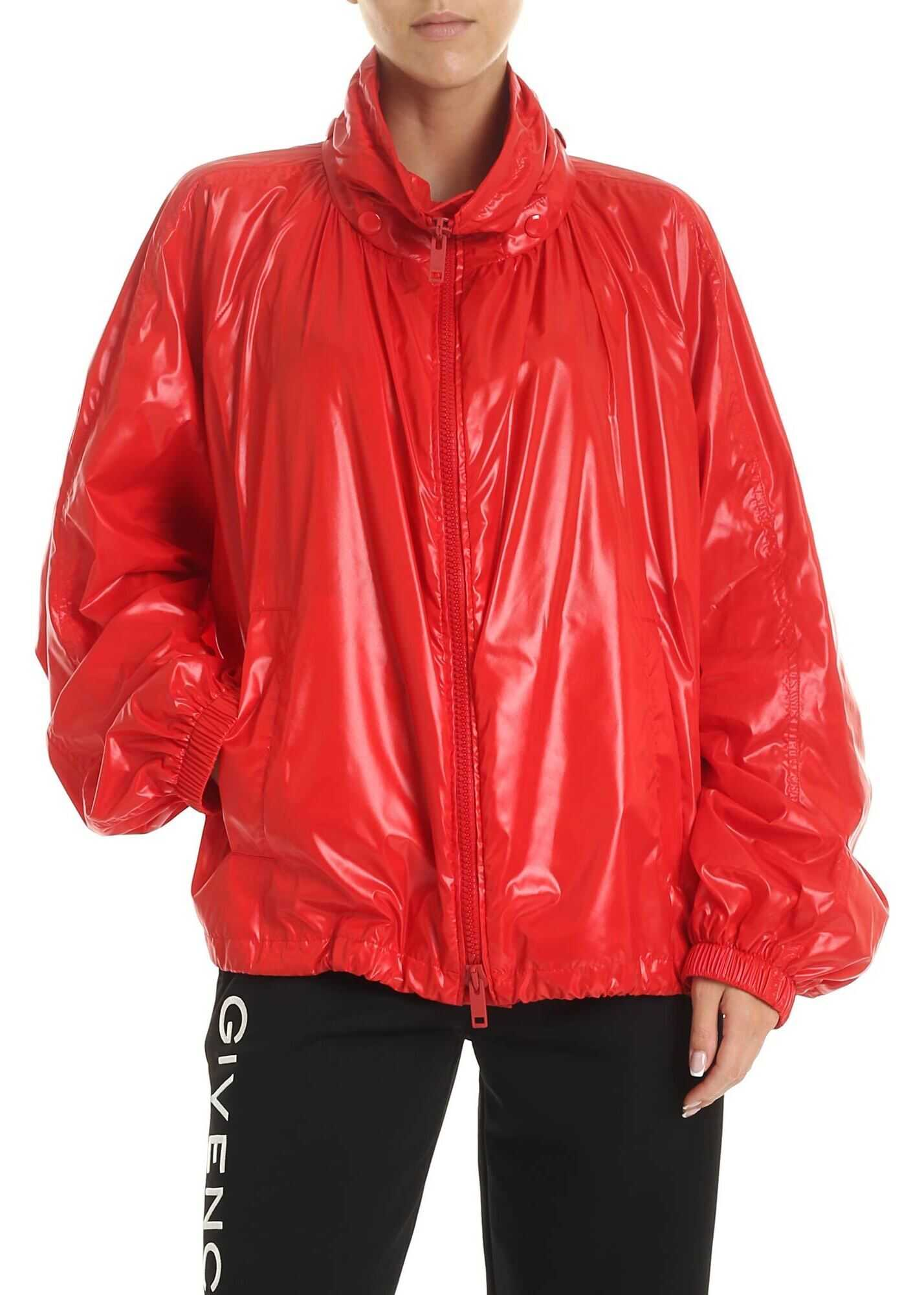 Givenchy Technical Fabric Jacket In Red Red