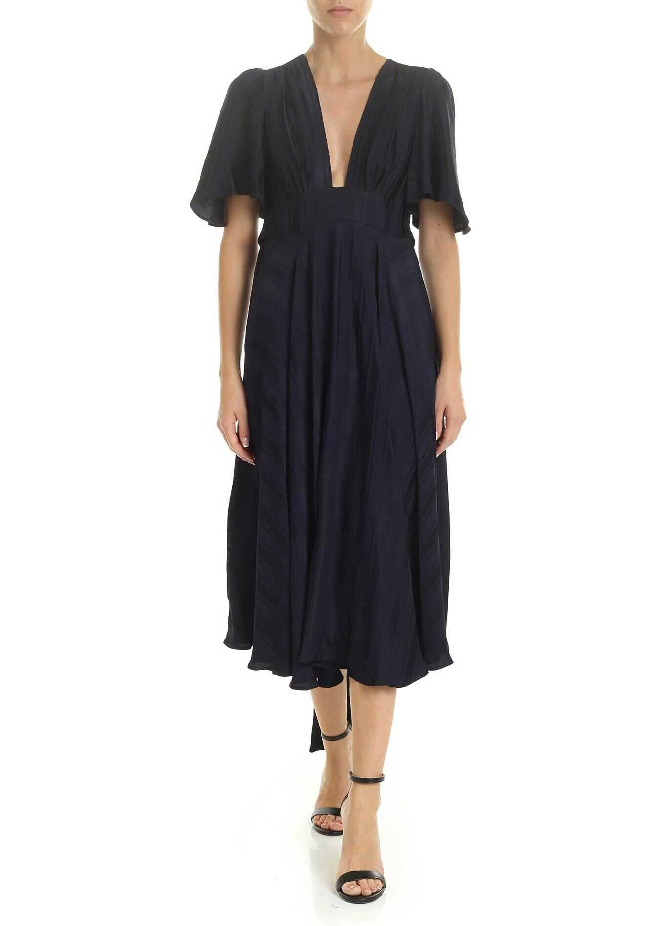 Golden Goose Hana Dress In Blue Viscose Blue