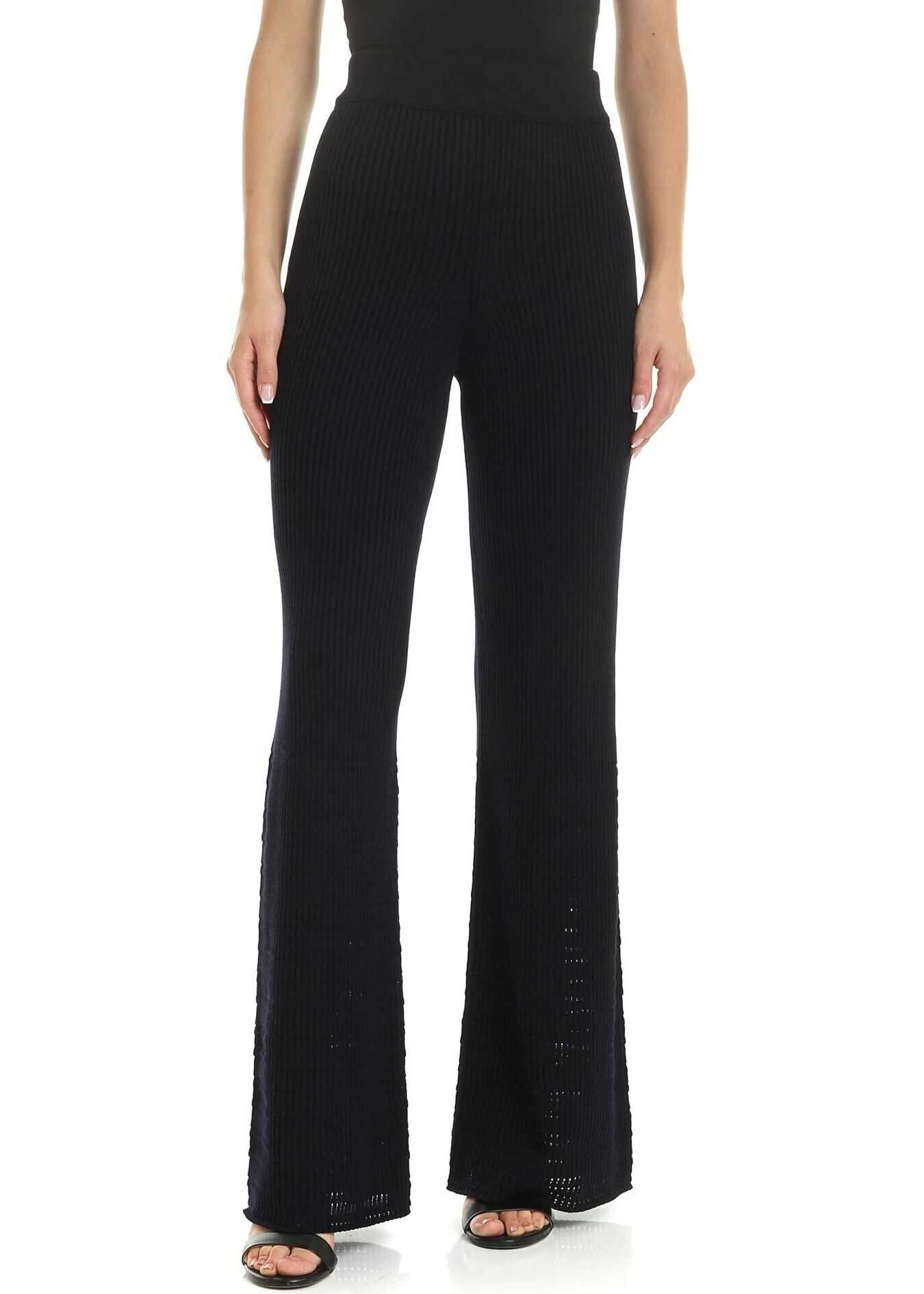 Golden Goose Shizuko Trousers In Navy Blue Blue