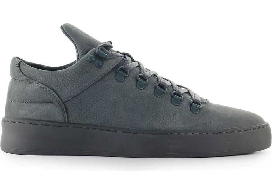 Filling Pieces Leather Sneakers BLUE