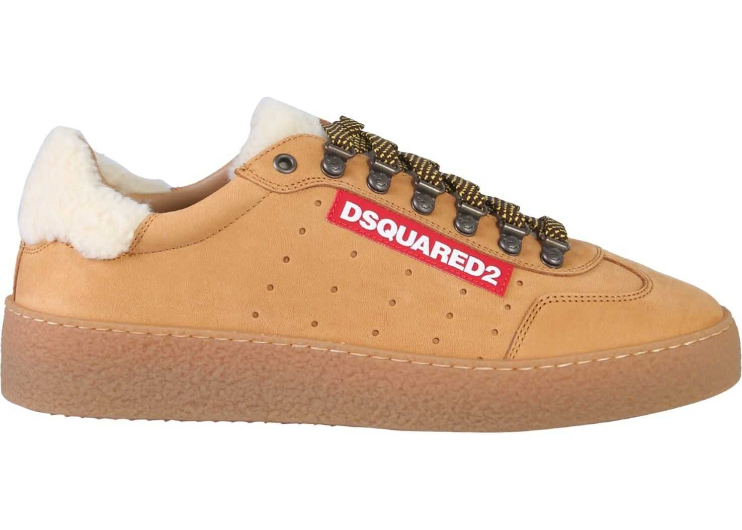 DSQUARED2 Low Top Ted Sneaker BEIGE